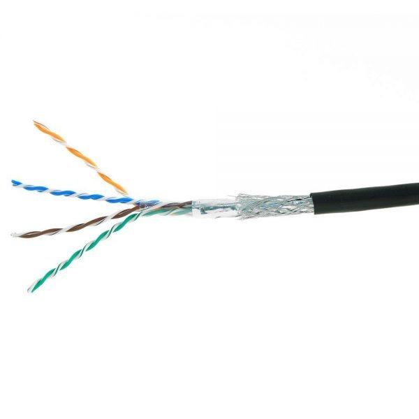 Кабель S/FTP cat.5e PE 4PR 4x2x24AWG (0,50) 200Mhz (Cu) (305m) OUTDOOR (для наружной прокладки)