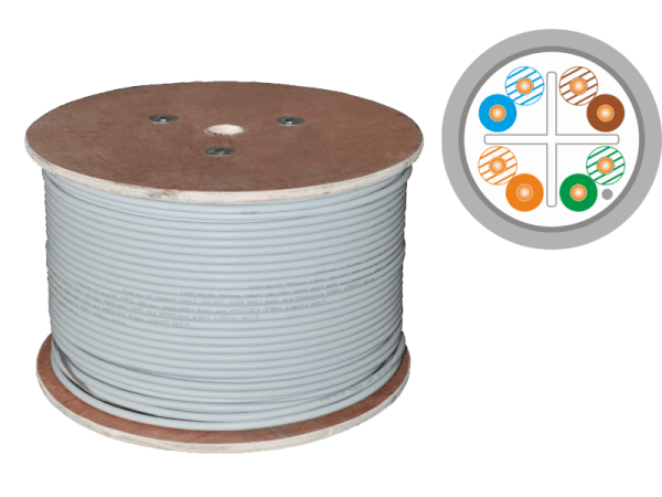 Кабель F/FTP cat.6 PVC 4x2x23AWG (500m)