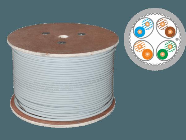 Кабель S/FTP cat.7A 4X2X23AWG 1500 MHz (10Gb/s) (500m)