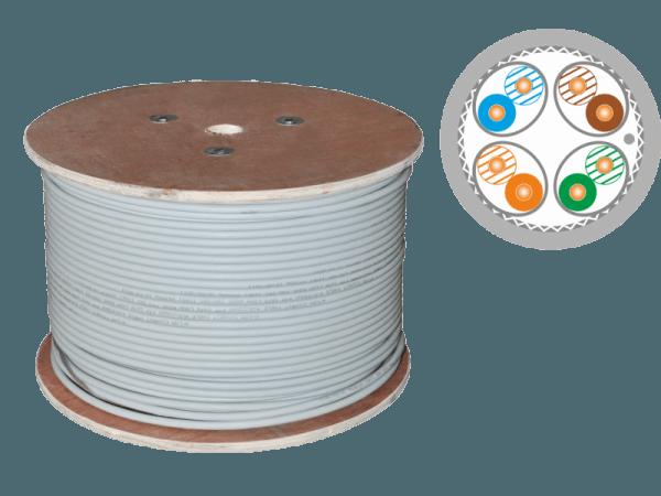 Кабель F/FTP cat.7A 4X2X23AWG 1500 MHz (10Gb/s) (500m)