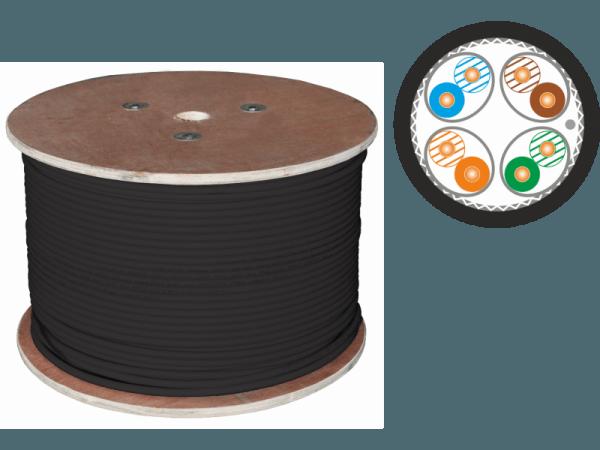 Кабель S/FTP cat.7 PE 4X2X23AWG 1500 MHz (10Gb/s) OUTDOOR (500m)