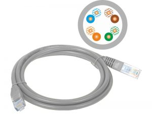 Patch-cord U/UTP cat.5e PVC 1m