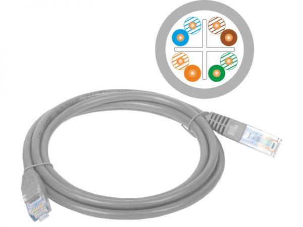 Patch-cord U/UTP cat.6 LSZH 3m